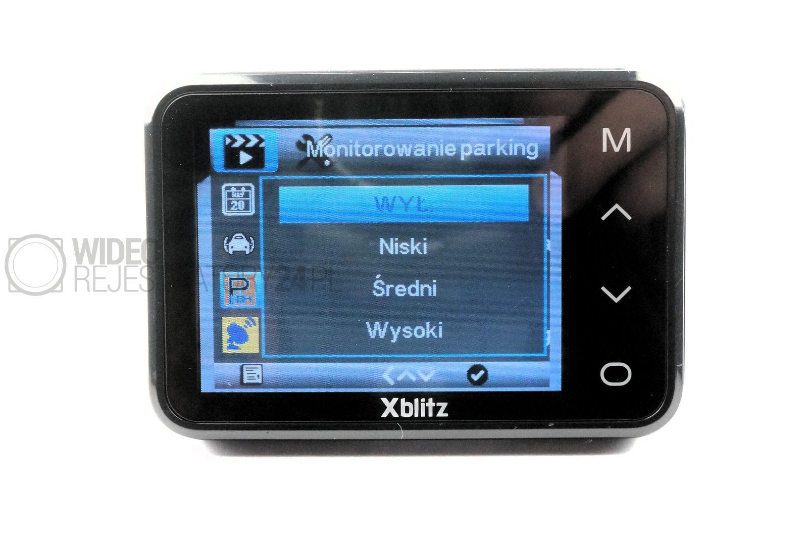 Xblitz Night mode parking