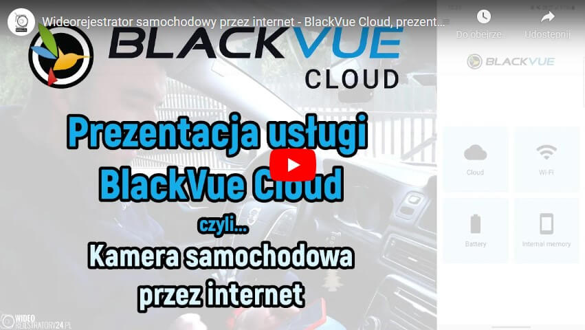 Recenzja BlackVue Cloud na YouTube